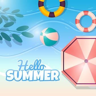 Gradiente ciao estate illustrazione