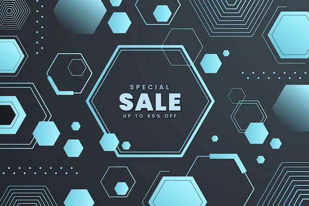 Градиентный шестиугольный фон с распродажей