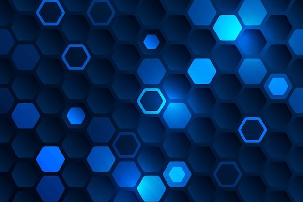 グラデーションの六角形の背景