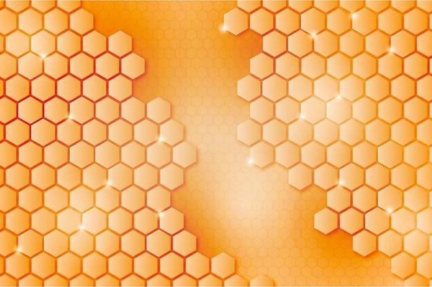 Gradient hexagonal background