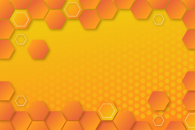 Gradient hexagonal background