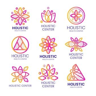 グラデーションホリスティックロゴコレクション