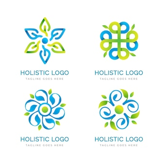 Gradient holistic logo collection