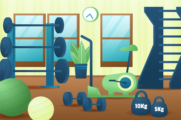 Gradient home gym illustrated