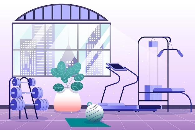 Illustrazione gradiente della palestra domestica