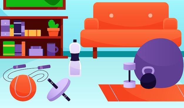 장비와 그라디언트 홈 체육관