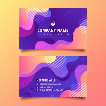 Gradient horizontal business card