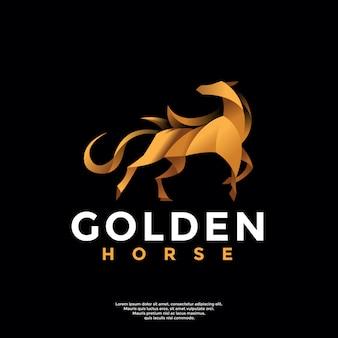 Gradient horse logo