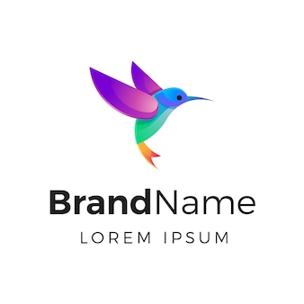 Gradient hummingbird logo