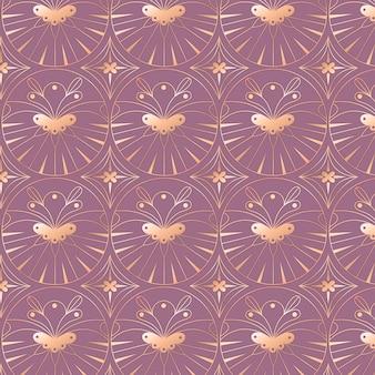 Gradient illustration of art deco pattern
