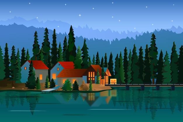 Gradient illustration of landscape