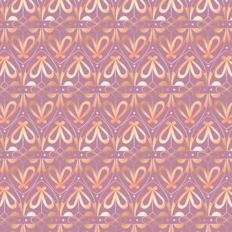 アールデコパターンのグラデーションイラスト