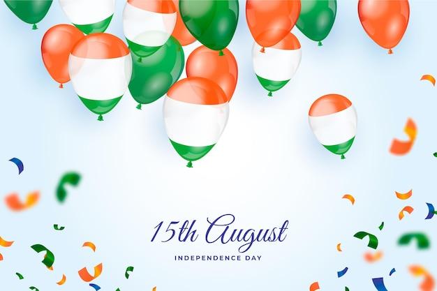 Gradiente illustrazione del giorno dell'indipendenza dell'india