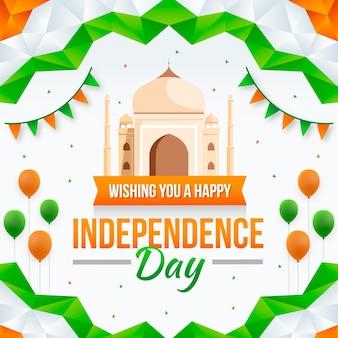 グラデーション インド独立記念日イラスト