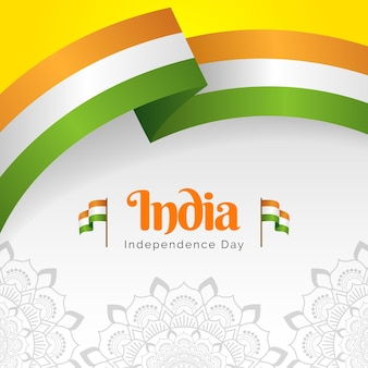 Gradient india independence day illustration
