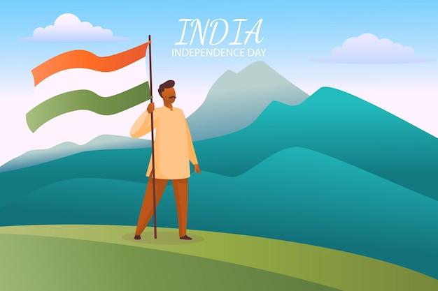 Градиент день независимости индии иллюстрация