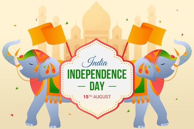 グラデーションインド独立記念日のイラスト