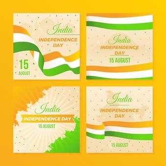 グラデーションインド独立記念日instagramの投稿コレクション