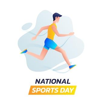 Градиентная иллюстрация дня национального спорта индонезии