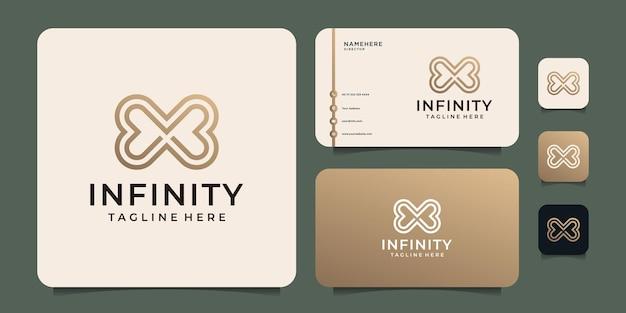 Gradient infinity round logo