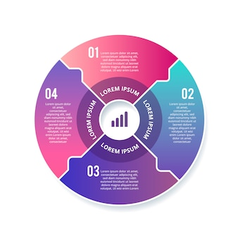 Gradient infographic circle template