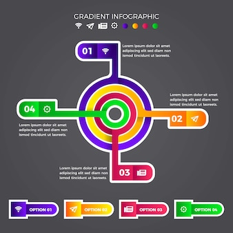 Gradient infographic collection design