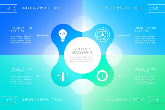 Gradient infographic concept