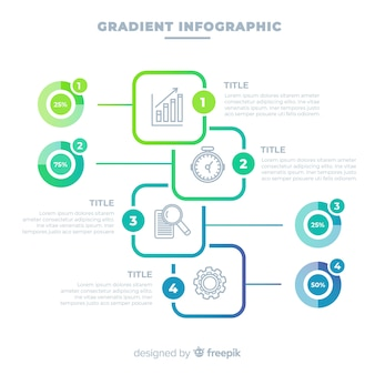 Gradient infographic design template
