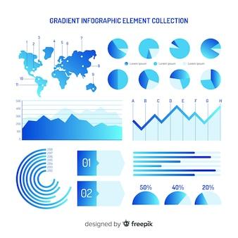 Gradient infographic elements collectio