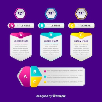 Gradient infographic elements