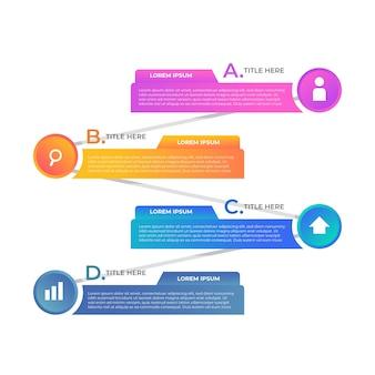 Концепция презентации градиента инфографики