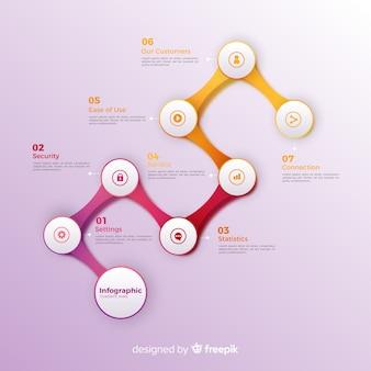Gradient infographic steps concept