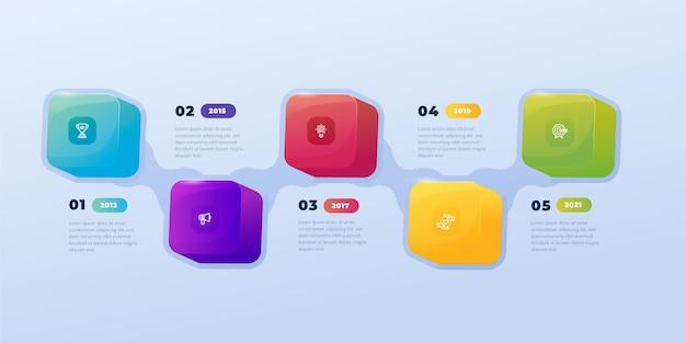Gradient infographic steps design