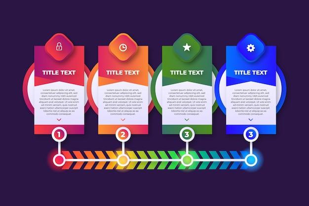 그라데이션 infographic 단계 템플릿