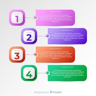 Gradient infographic template flat design