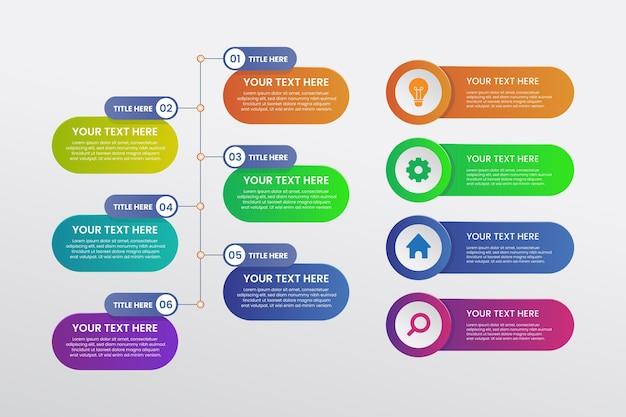 색상 그라디언트 infographic 템플릿