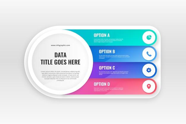 Gradient infographic template