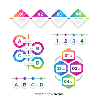 Gradient infographic with colorful steps