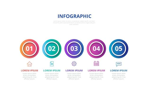 Градиентная инфографика со ступенями
