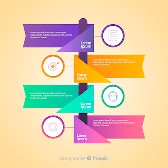 Gradient infographic