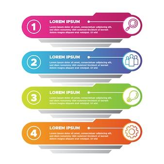 Gradient infographics concept