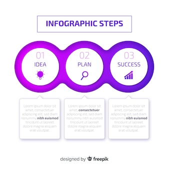 Gradient infographics steps