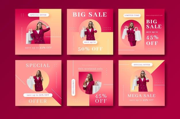 사진이 있는 그라데이션 인스타그램 판매 게시물 모음