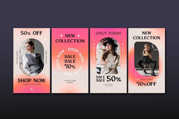 Коллекция историй о продажах в instagram с фото