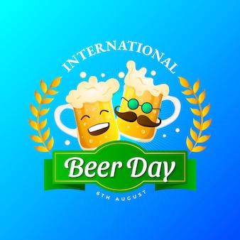 Illustrazione della giornata internazionale della birra sfumata
