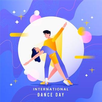 그라디언트 국제 댄스 데이 일러스트레이션