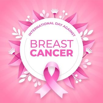 乳がんのイラストに対する勾配国際デー