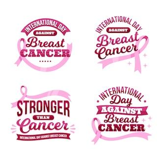 Giornata internazionale del gradiente contro la raccolta di etichette scritte contro il cancro al seno