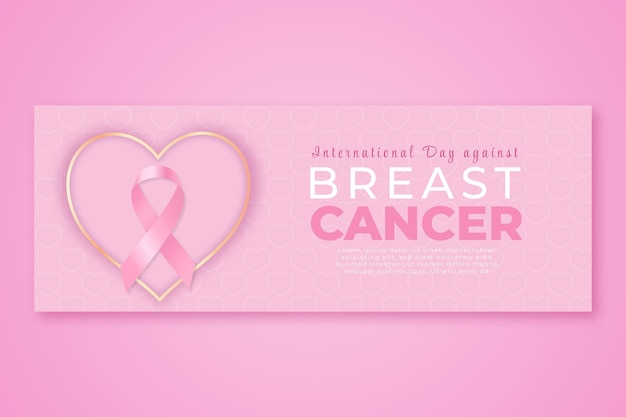 Gradient international day against breast cancer social media cover template