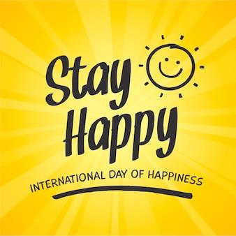 행복 일러스트의 그라데이션 국제 날